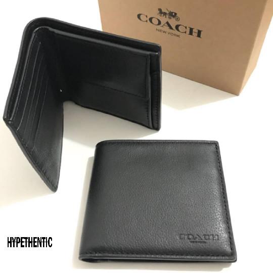Jual Coach Men Embossed Coin Black Wallet Original Dompet Cowok Pria ... 25a9169e16