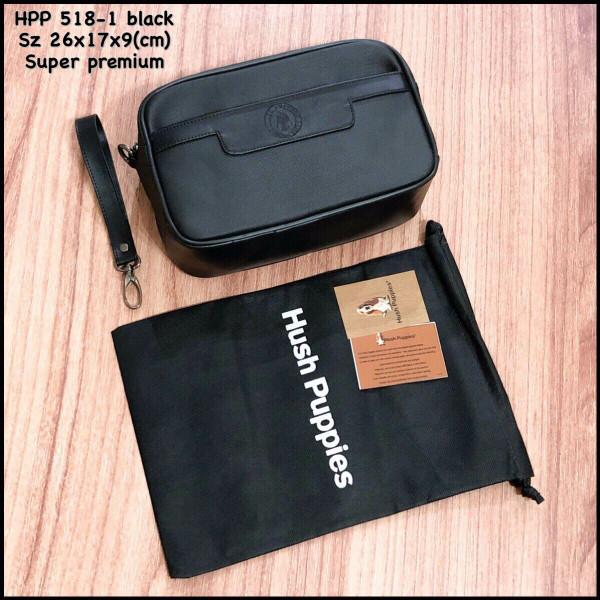 Jual handbag hushpuppies 518-1 black tas tangan clutch pria clutch ... 26a385b509