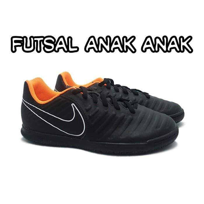 8fbccea93bf Sepatu futsal anak nike tiempo legend 7 hitam original