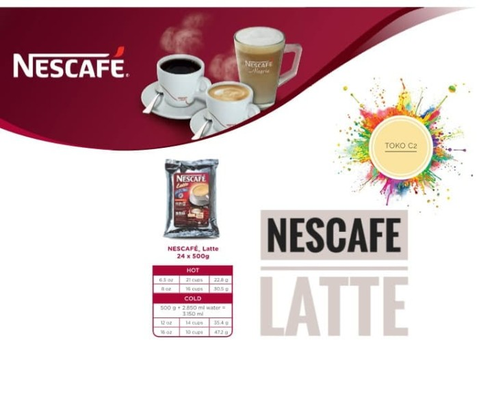Nescafe latte 500gr nestle professional ...