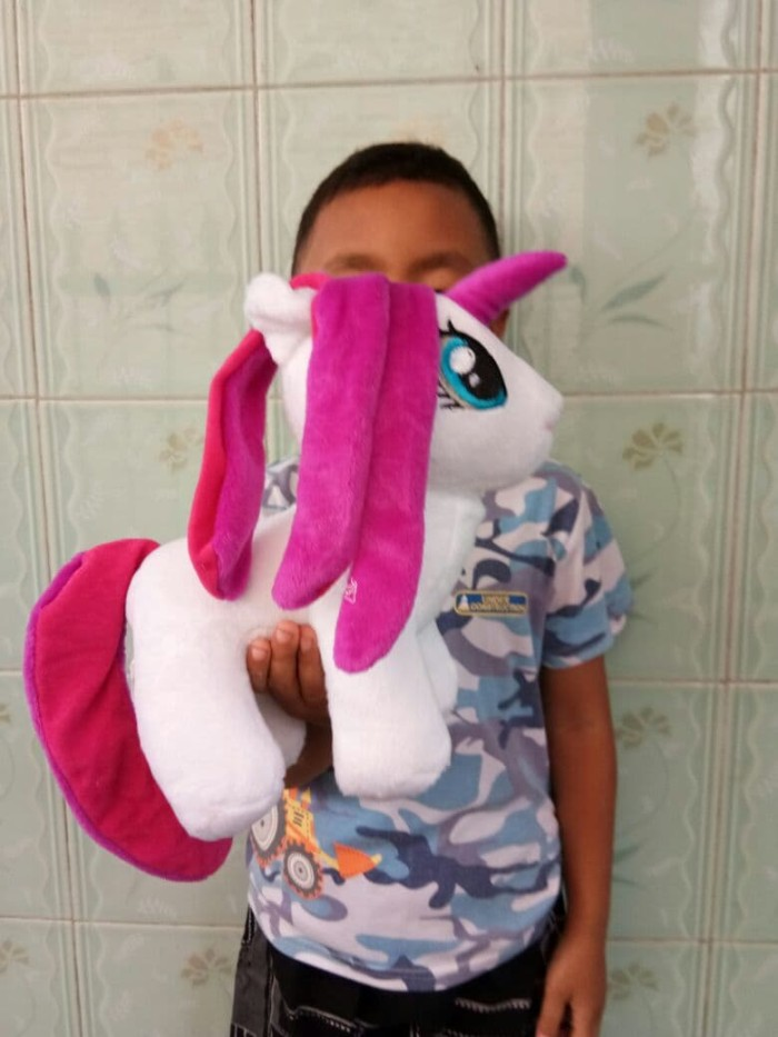 Boneka kuda poni lucu ukuran 25cm - boneka unicorn lucu murah 472746ce46