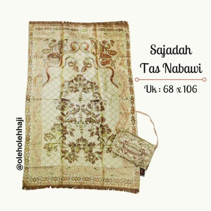 Motif Hajar Aswad Hijau; Page - 4. Sajadah Tas Traveling Nabawi .