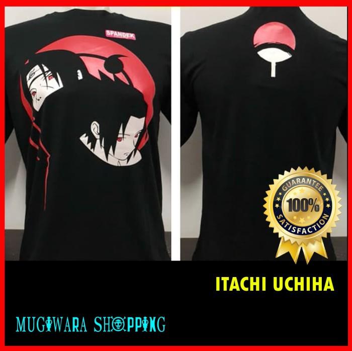harga Kaos distro baju t-shirts murah anime film kartun naruto itachi .