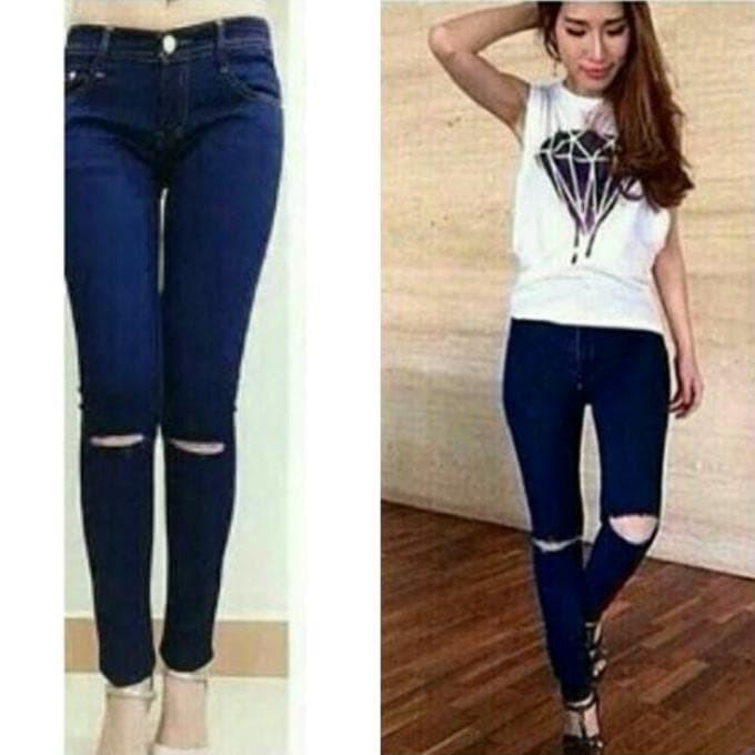 Info Celana Jeans Wanita Ripped Hargano.com