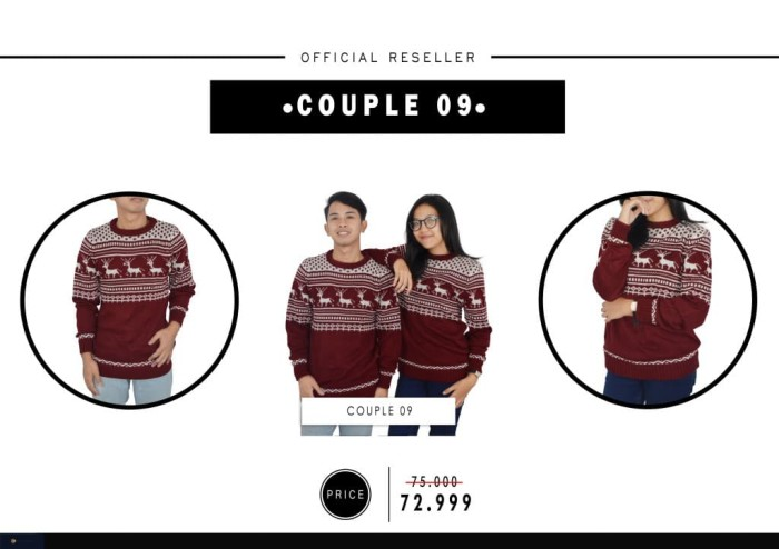 harga Couple 09 khusus reseller | baju rajut couple | sweater couple Tokopedia.com