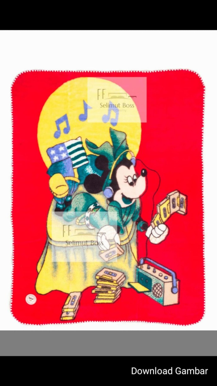 Jual Selimut Bayi Tebal Mickey Golden Baby Disney 110 X 14 Diskon Jakarta Pusat Pretty Grosir
