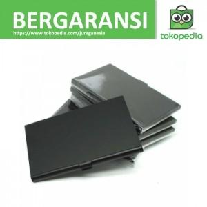 Kotak Kartu Nama Aluminium - Hitam