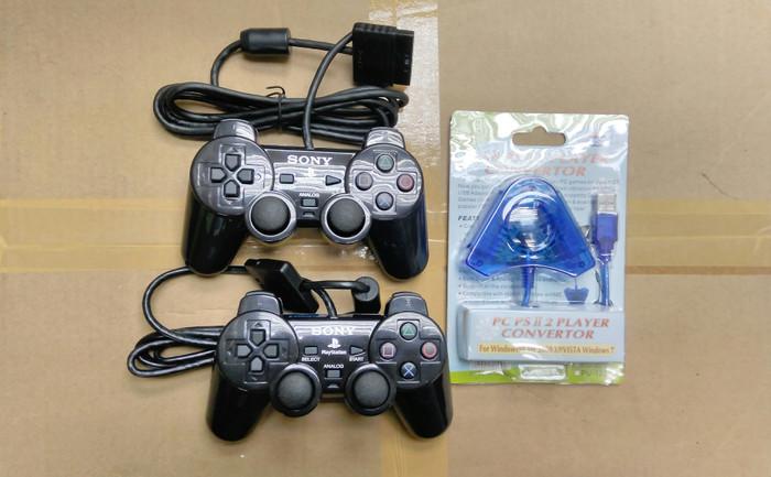 harga Paket 2buah stik ps2 ori pabrik + 1buah converter 2slot Tokopedia.com