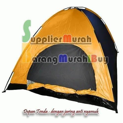SPESIAL Tenda Camping kemping dome Lipat 4 orang dengan alas tenda