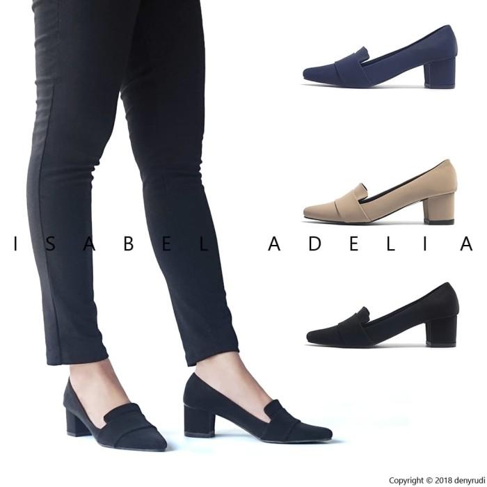 Isabel SALLY Sepatu Wanita Hak Tinggi Pantofel Kerja Block Heels - Hitam 5b234c1b2a