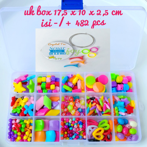 harga Mainan meronce 15 manik plastik coloufull Tokopedia.com