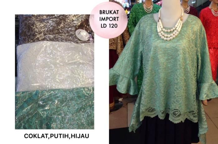 Jual Blouse Brukat Import Ld 120 Baju Pesta Big Size Kebaya Atasan Muslim Jakarta Utara Lapak75 Tokopedia