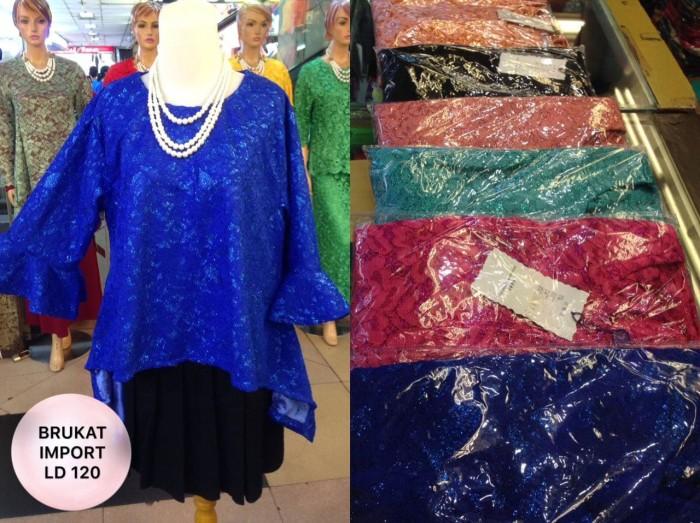 harga Atasan brokat kebaya ld 120 cm blus blouse baju pesta big size brukat Tokopedia.com