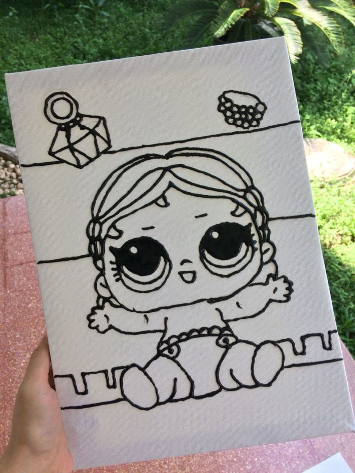 Jual Kanvas Lukis Anak Gambar Lol Surprise Doll Ck Arabica Coffee