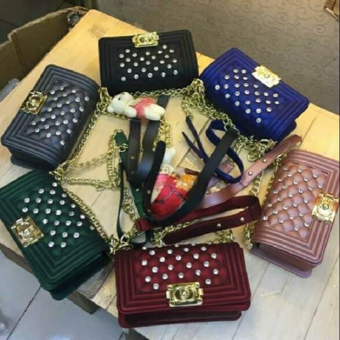 Jual Tas Wanita Fashion Import Jelly Matte Diamond Chanel 20cm Best ... 6cb892f9ed