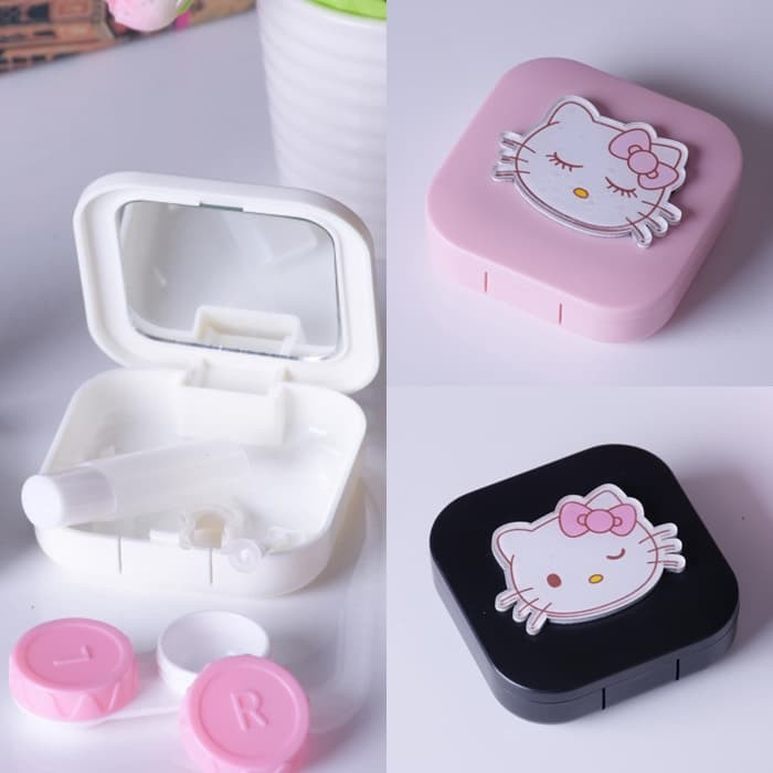 harga Kp039 kotak softlens tempat kontak lensa totoro kitty contact lens box Tokopedia.com