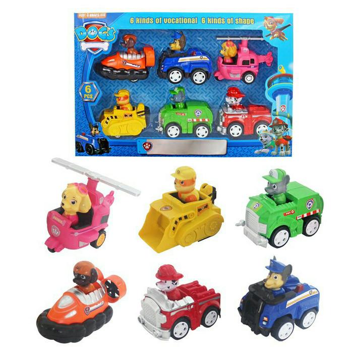 Foto Produk Mainan Anak Paw Patrol Dengan Kemasan 1 set isi 6 pcs / Paw Patrol dari R&M Toys
