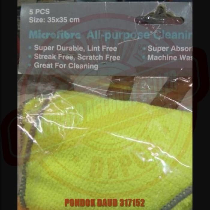 5 pcs PROCLEAN Lap Tangan Handuk Microfiber 35x35cm