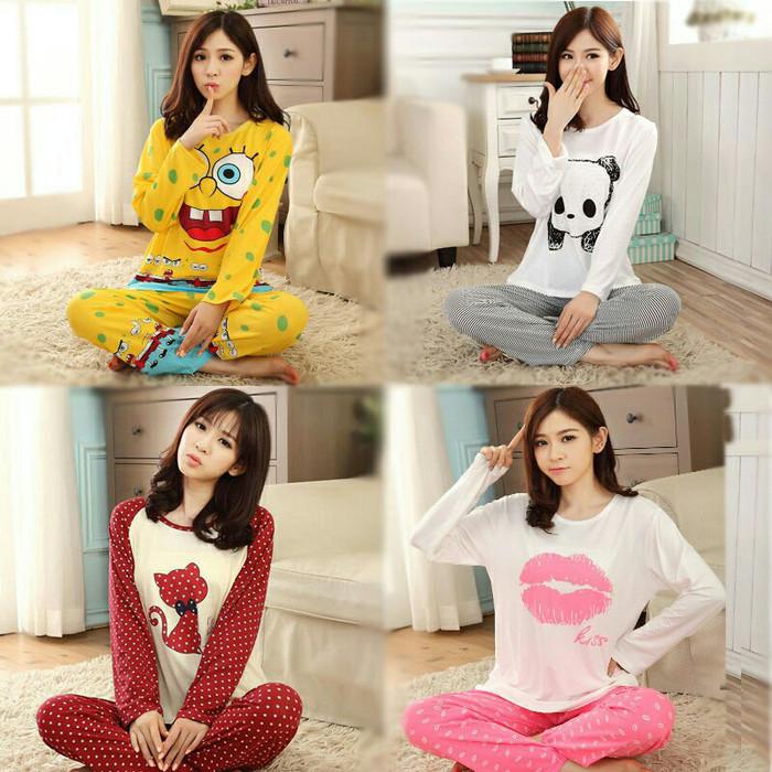 harga Baju tidur / piyama dewasa celanja panjang baju panjang korea Tokopedia.com