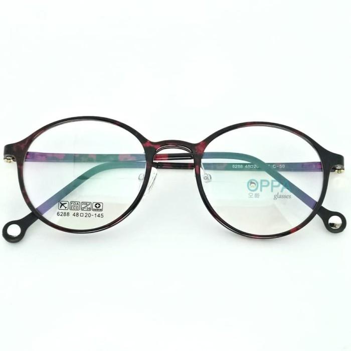 Jual Frame Kacamata Korea Pria Wanita Oppa Op34 Rdbl Merah Bulat ... 8e689ce98f