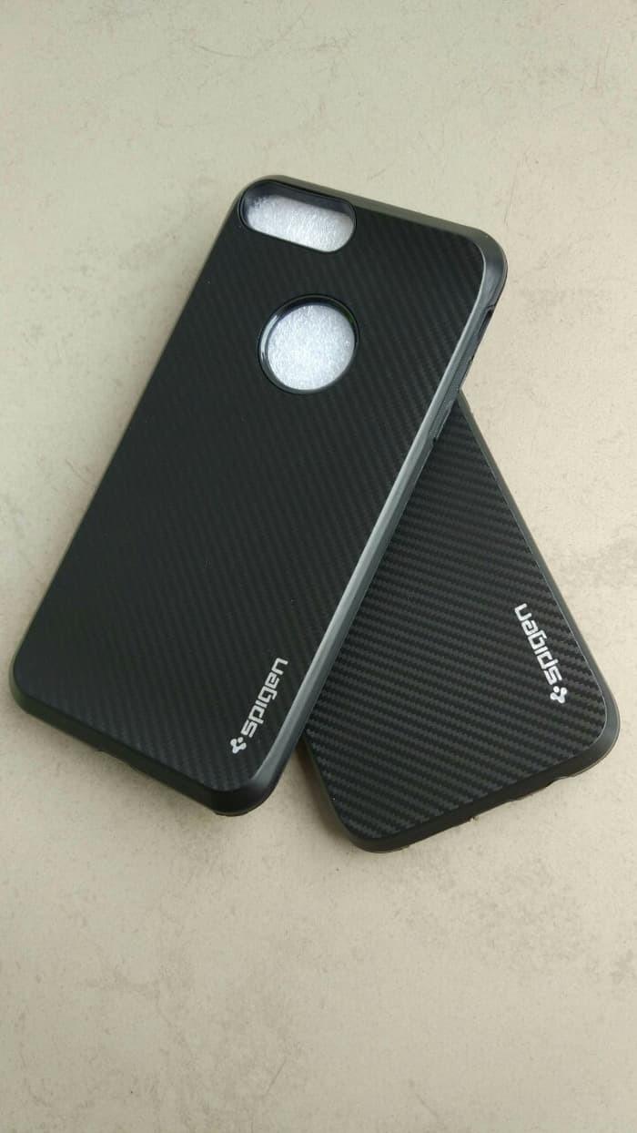09 Case iPhone 7/7 Plus +/6/6s/5/5s Slim Carbon 1 Casing Black