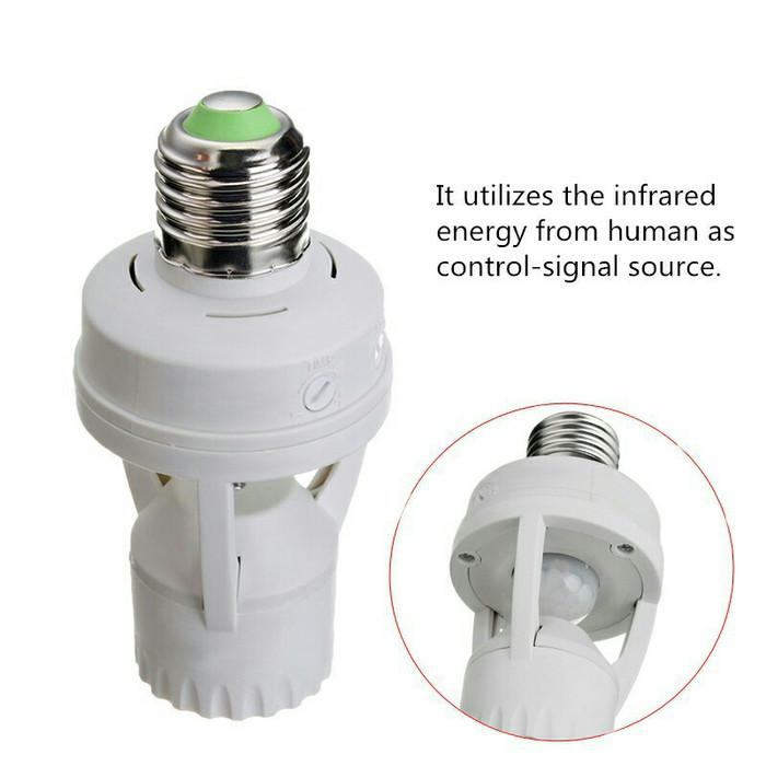 harga Fitting lampu led e27 dengan sensor gerak pir infrared on/off otomatis Tokopedia.com