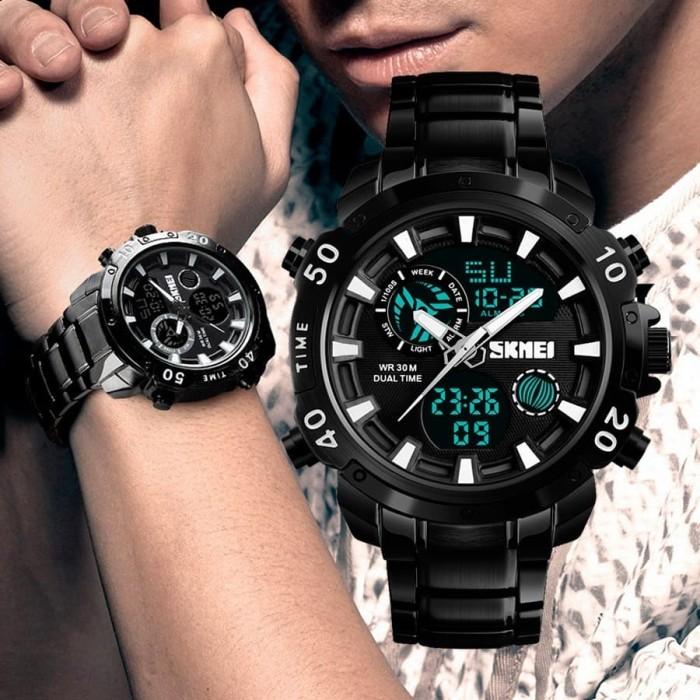 Jam Tangan Led Pria Original Skmei Water Resistant Casual Rolex Sport