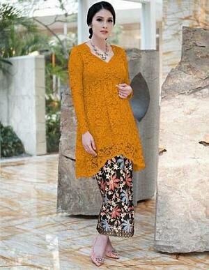 harga Setelan kebaya brukat/brokat/lace panjang combi rok batik cantik syari Tokopedia.com
