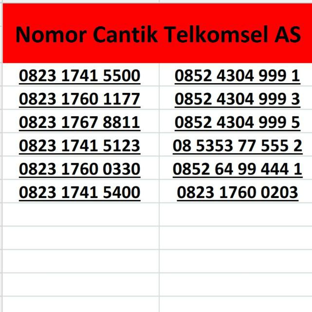 harga Nomor cantik telkomsel as nomer kartu perdana Tokopedia.com