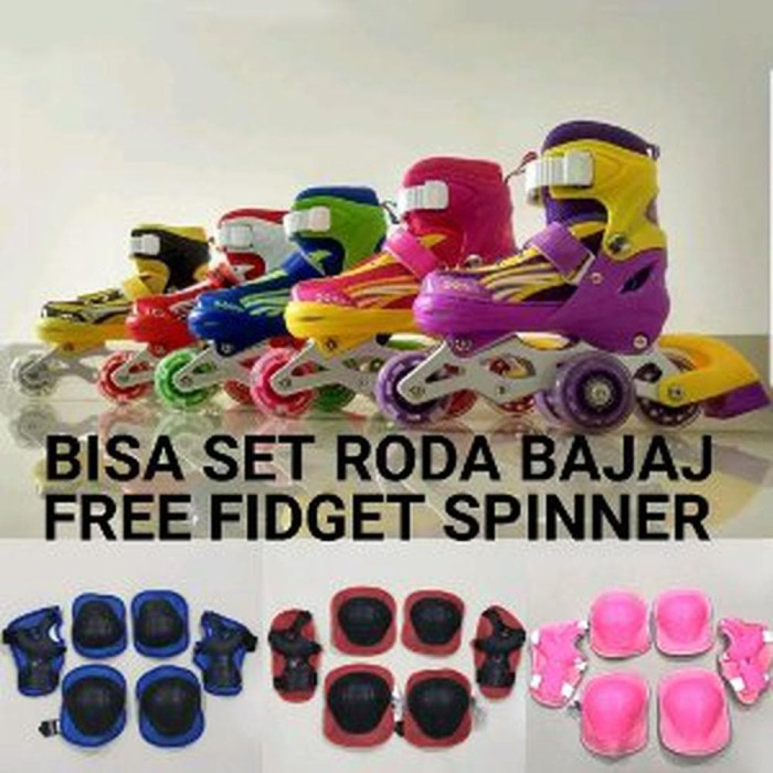 Sepatu Roda Anak Power Inline Skate Bonus Dekker Fullset - ORO16 New 8fa80893b7
