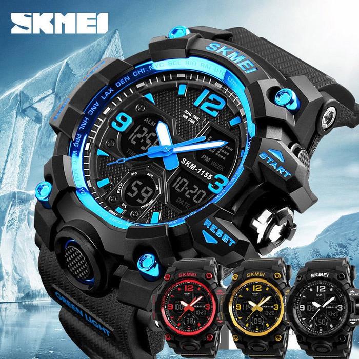 Jam tangan pria sport skmei 1155 - digital led - analog - g-shock