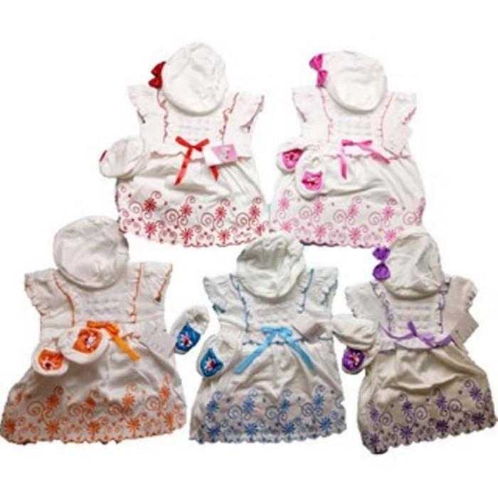 PROMO Pakaian anak-anak Baju Bayi Perempuan Baru Lahir Dress Bayi Topi e6cc880ffd