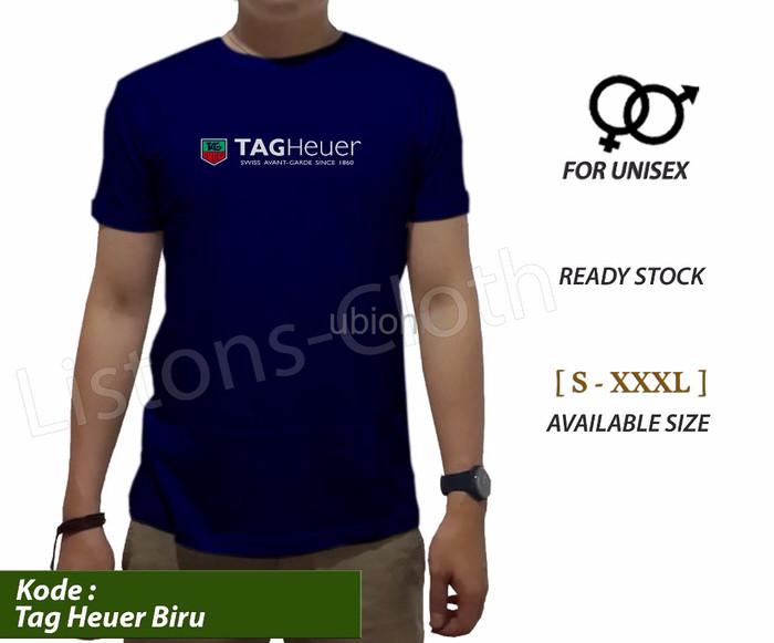 Promo Kaos distro tag heuer biru baju pecinta jam tangan tshirt watch