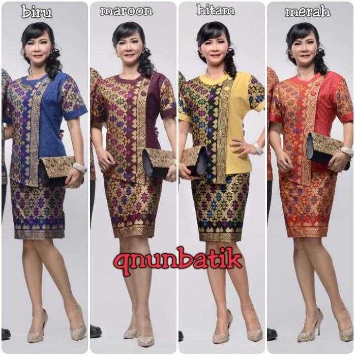 harga Rok n blus batik pendek wanita takashimaya Tokopedia.com