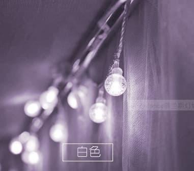 Lampu led natal tahun baru hiasan bentuk bulat bohlam lampu putih