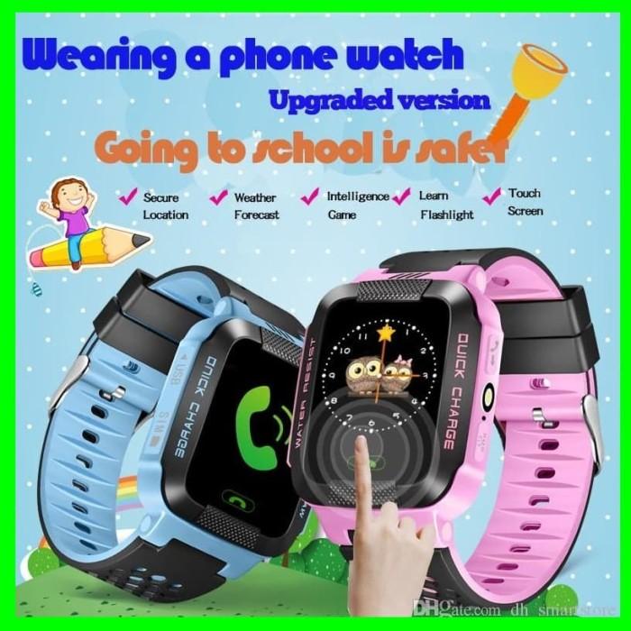 Jam Tangan Hp Anak Smart Watch Kids Nelpon Layar Sentuh Handphone GPS