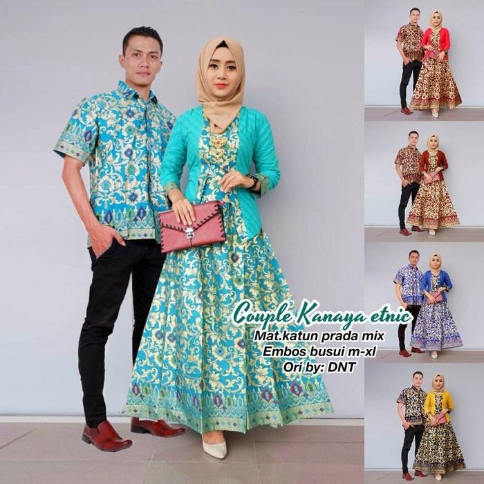 harga Batik couple gamis kanaya etnic Tokopedia.com