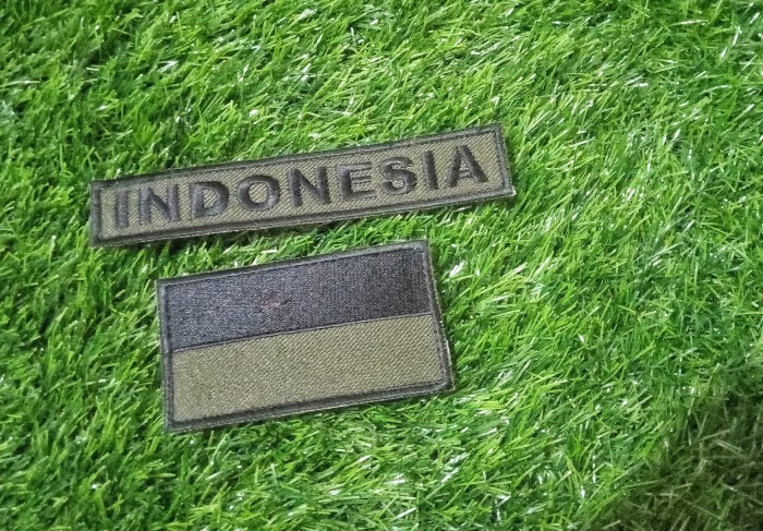 harga Indonesia flag & name tag patch Tokopedia.com