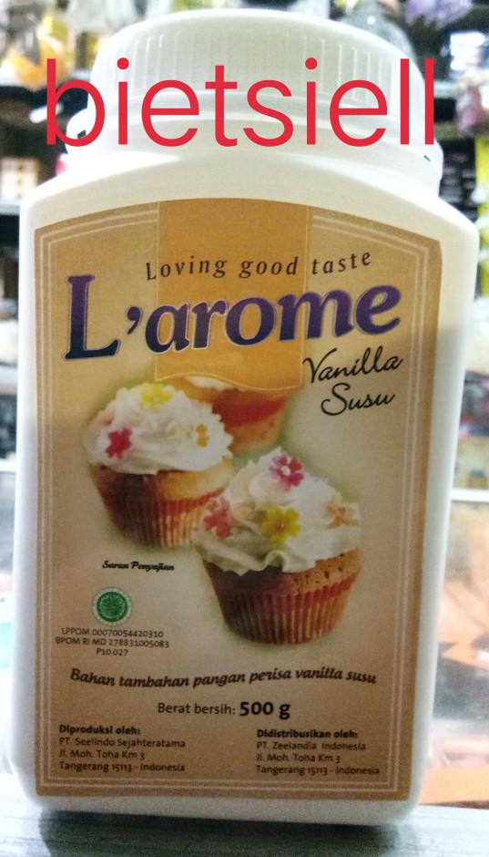 harga L'arome perisa vanilla susu (powder) 100gr Tokopedia.com