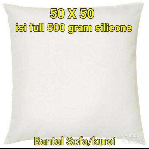 Bantal sofa 50 x 50 .