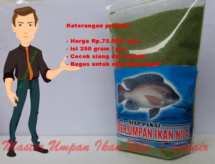 Foto Produk umpan pelet ikan nila | mujair siap pakai dari Master Essen Ikan