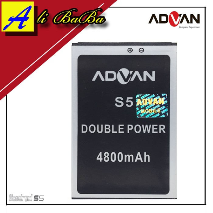harga Baterai handphone advan vandroid s5 bp-5s double power advan batre s5