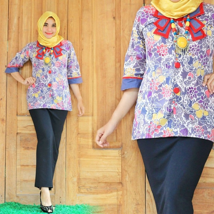 Jual Model Baju Batik Wanita Terbaru Batik Kantor Kota Yogyakarta Tokobatikazzamy Tokopedia