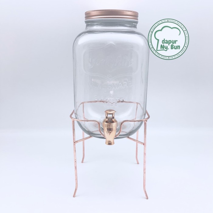 harga Glass dispenser / dispenser toples kaca kran / ukuran 4000ml Tokopedia.com