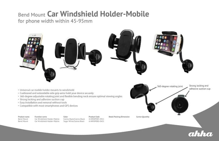 harga Ahha bend mount car windshield holder original (product of capdase) Tokopedia.com