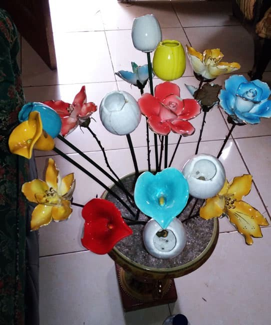 Jual Keramik Vas Bunga Plus Bunganya 15 Buah Kota Bekasi Ladies Store Tokopedia