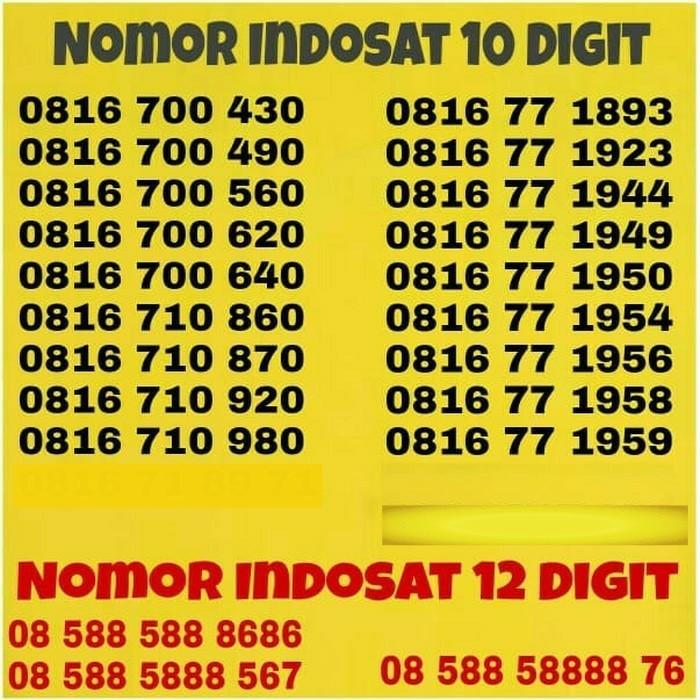 Nomor Cantik Indosat 10 Digit Kartu Perdana IM3 Simpati XL Axis As Tri