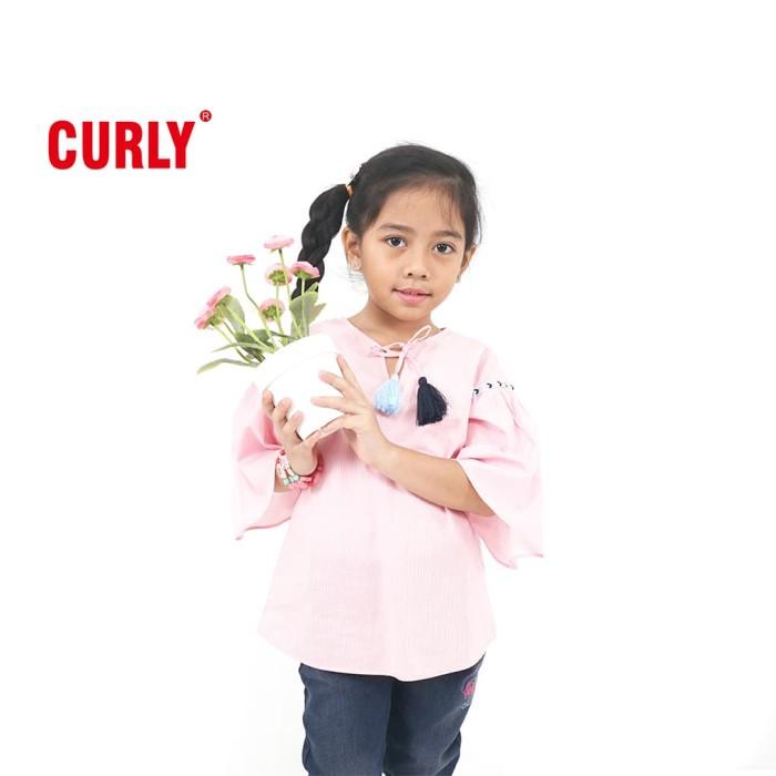 harga Curly blouse with tassel and twill tape detail - lyb006 - 8-9 tahun Tokopedia.com