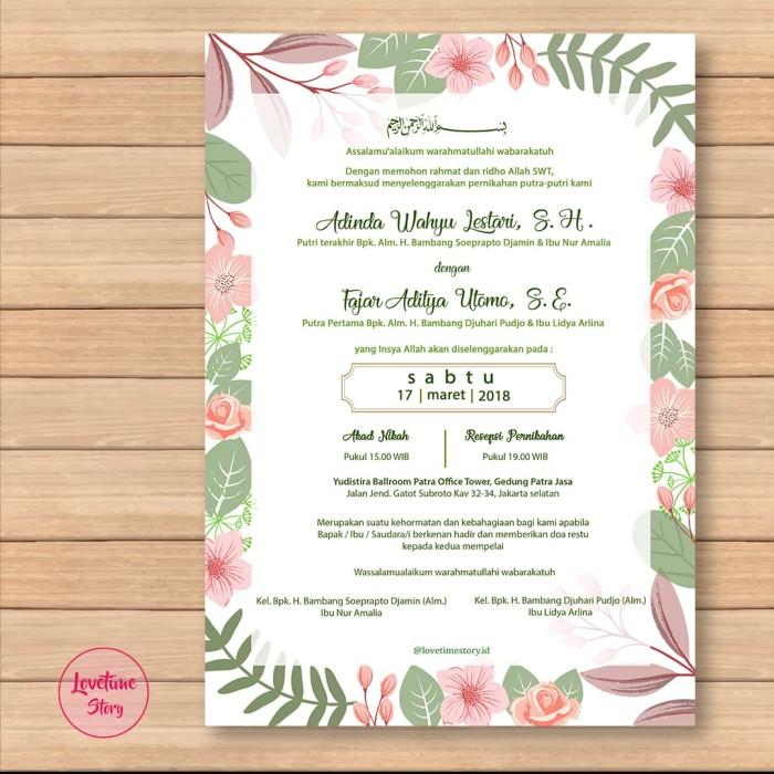 Jual Undangan Pernikahan Undangan Digital E Invitation