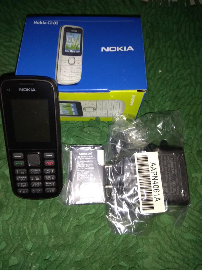 harga Handphone nokia c1-01 charger dus buku panduan Tokopedia.com